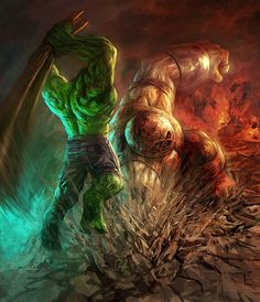 Hulk vs. Juggernaut: the Unstoppable Force meets...well, the Unstoppable Force