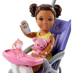 Check out the Barbie Skipper Babysitters Inc. Doll and Playset at the official Barbie website. Explore the world of Barbie today! Barbie Kids, Barbie Doll Set, Barbie Skipper, Mattel, Doll Clothes Barbie, Barbie Stuff, Toy Cars For Kids, Toys For Girls, Toddler Dolls