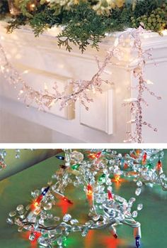 Just ordered 3 of the clear!     This lighted garland creates holiday magic with the look of shimmering crystals!