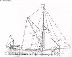 Thames Sailing Barge Sailing Yachts, Sailing Ships, Nautical Painting, Merchant Marine, Vintage Boats, Wood Boats, Sail Boats, River Thames, Model Ships