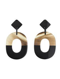 Hermès Isthmé earrings Buffalo horn