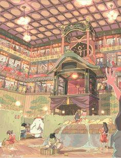 Studio Ghibli Art   Via Gonza Resti