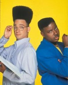 Kid N Play comedy duo famous for the House Party movies Famous Hairstyles, 90s Hairstyles, Celebrity Hairstyles, House Party Movie, Kid N Play, Comedy Duos, Old School Music, 80s Hair, Black Hair Care