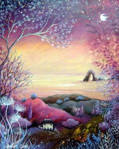 Amanda Clark: Art Gallery – Non-Duality America Illustrator, Clark Art, Photo D Art, Encaustic Art, Wow Art, Naive Art, Art Graphique, Angel Art, Whimsical Art