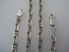 Sterling Silver 925 Anchor Chain Necklace 24in 5mm by Replays