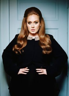 Adele - an unconventional beauty, by Lauren Dukoff. Adele Laurie Blue Adkins (b. English singer and songwriter. At the Annual Grammy Awards in Adele won awards in the categories of Best New Artist and Best Female Pop Vocal Performance. Britney Spears, Pretty People, Beautiful People, Beautiful Voice, Beautiful Curves, Adele Love, Adele Style, Mode Plus, Mode Style