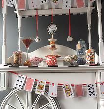 Amy's allsorts candy cart | GALLERY  Mad Hatter Tea Party themed candy cart. With the use of quirky decorations you can transform and bring the cart to life.