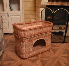 одноклассники Willow Weaving, Basket Weaving, Baskets For Shelves, Cat Basket, Dog Furniture, Basket Decoration, Reno, Pet Accessories, Bassinet