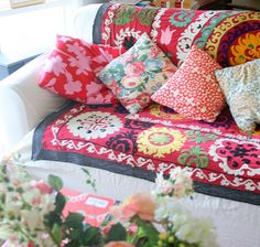 bohemian decor - boho living room Add this to my couch to create a boho look Bohemian Fabric, Bohemian Room, Bohemian Interior, Bohemian Living, Bohemian Decor, Bohemian Pattern, Hippie Chic, Boho Chic, Shabby Chic