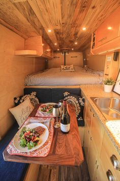 """Apollo"" Sprinter 170 Conversion Not a bad place to have lunch! Check out more photos of this build in the project gallery of our website. Camper Life, Camper Van, Van Conversion Interior, Sprinter Camper, Van Home, Living On The Road, Campervan Interior, Van Living, Trailer Remodel"