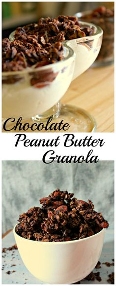 Chocolate Peanut Butter Granola Vegan, gluten free, delicious and simple to make!