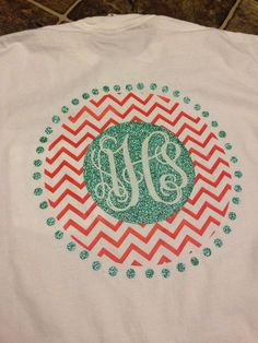 Heat transfer monogram vinyl design - Custom Order