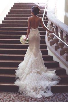 #backless wedding dresses #mermaid wedding dresses #lace wedding dresses…