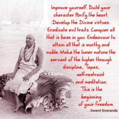 Sivananda Spiritual Life, Spiritual Quotes, Wisdom Quotes, Om Namah Shivaya, Saints Of India, Yoga Courses, Mindfulness Quotes, Yoga Teacher, Self Development