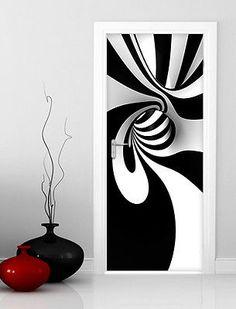 pt0032-wall-stickers-adesivi-murali-adesivo-porta-hypnotic-100x210cm (305×400) Creative Wall Painting, Creative Walls, Door Stickers, Wall Sticker, Opt Art, Front Elevation Designs, Mother Art, Wall Patterns, Diy Wall Decor