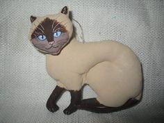 GLADYS BOALT Siamese Cat Ornament dated 1995 | eBay