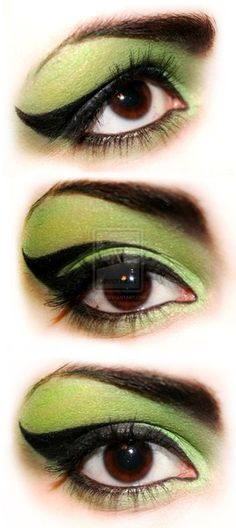 Awesome witch makeup kaitlin_pruett - seems like this could also double as She-Hulk or another superhero Halloween costume!