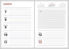 plantilla indesign agenda 2017