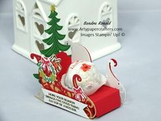 Santa's Sleigh with secret compartment using Stampin' Up products   Arty Paper Crafters