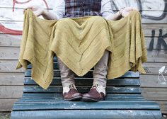 In. Love. This is my next big project on my list of knitting to-do's! Don't you just want to crawl inside of that and get cozy? I love a piece that you can wrap around you like a scarf on the way out the door, then wrap around you like a shawl in a chilly restaurant or movie theatre. #knitting #shawl