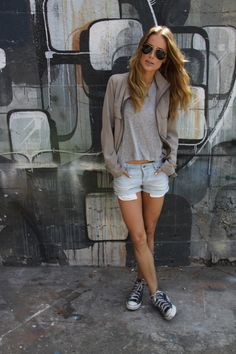 Converse style summer outfit cool girl casual