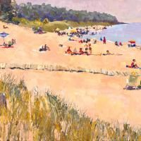 Oval Beach, Facing South, Late Spring, Saugatuck, Michigan by  James Brandess. Love this local artist!
