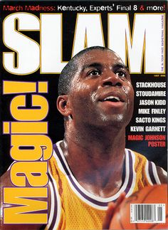 SLAM 11: Los Angeles Laker Magic Johnson appeared on the cover of the 11th issue of SLAM Magazine (1996, cover 1 of 3).