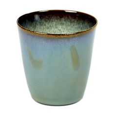 Serax Pack of 2 small Smokey Blue Ceramic Conic Goblet - Trouva Earthenware, Stoneware, Beach Clean Up, Ceramic Tableware, Home Comforts, Old Art, Flower Pots, Matcha, Bowls