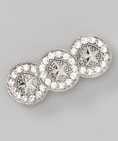 Antique Silver Sparkle Star Concho Barrette you love this brand Montana Silversmiths