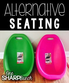 Tons of classroom management tips, like alternative seating, in this post!