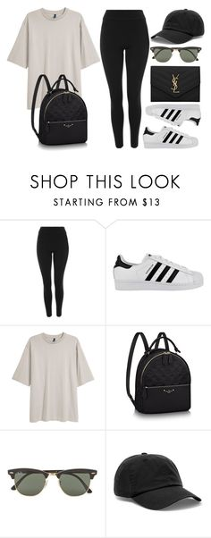 """#14807"" by vany-alvarado ❤ liked on Polyvore featuring Topshop, adidas, Ray-Ban, Acne Studios and Yves Saint Laurent"