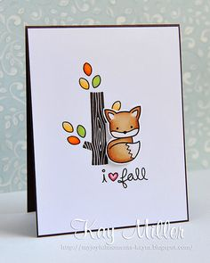 Lawn Fawn _ Into the Woods _ Adorable card by Kay at My Joyful Moments: Animal Antics