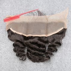 7A Lace Frontal Closure 13x4 Virgin Brazilian Loose Wave With Baby Hair Swiss Lace Frontal Bleached Knots Full Lace Frontal