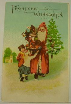 Antike schöne Weihnachtsmann Motiv AK um 1900 | eBay