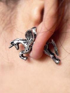 Punk Horse Pattern Earrings