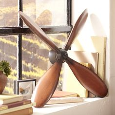 NEW Vintage Style Airplane Propeller Rotor Wall Decoration Industrial B6