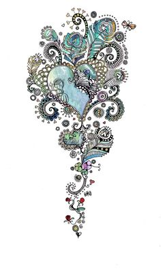 #blue #heart #tattoo  not necessarily something I would get but still really pretty