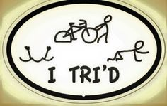 Finally a sticker that explains what would happen if I attempted a tri.