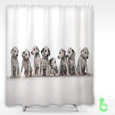 Dog Puppy Dalmatian Shower Curtain