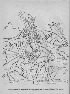Dungeons And Dragons Elves Coloring Pages. Dungeons. Best Free Coloring Pages