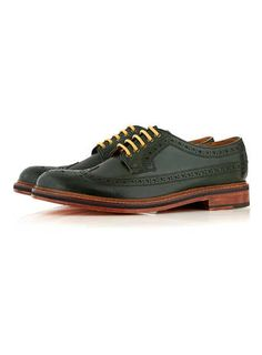 For mens fashion check out the latest ranges at Topman online and buy today. Topman - The only destination for the best in mens fashion Dapper Men, Brogues, Oxford Shoes, Dress Shoes, Take That, Lace Up, Mens Fashion, Accessories, Green