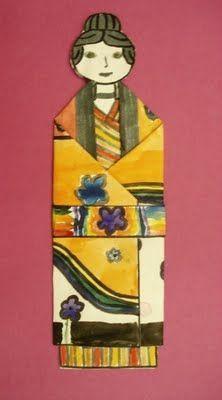 Folded Paper Kimonos #learnjapaneseforkidslessonplans