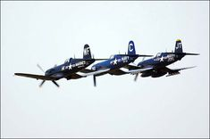 Vought F4U Corsair WWII Aircraft Formation.