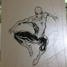 Spider-Man by Dan Mora #commission #spiderman #wip