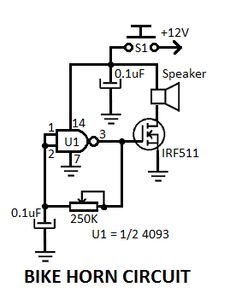 7 best diagrams images diy electronics, electronics projects, arduinoelectronic bike horn circuit diagram electronic bike, bike horn, circuit diagram, diy electronics