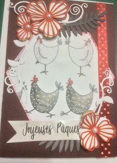 Carte Joyeuses Pâques Die capucines dentelles Craft Die de Sue Wilson Mars 2018