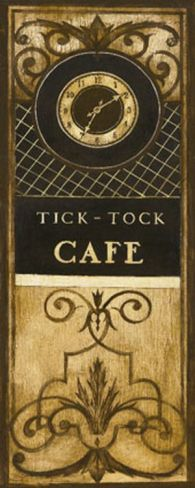 Tick Tock Cafe Print by Kimberly Poloson at Art.com