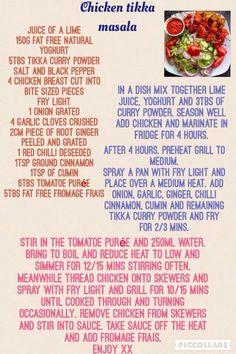 Chicken tikka masala slimming world