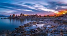 Mono Lake is a large, shallow saline soda lake in Mono County, California, formed at least 760,000 years ago as a terminal lake in an endorheic basin.