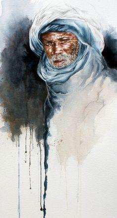Touareg 13 (reproduction) - Peinture ©2010 par Sonia Privat -